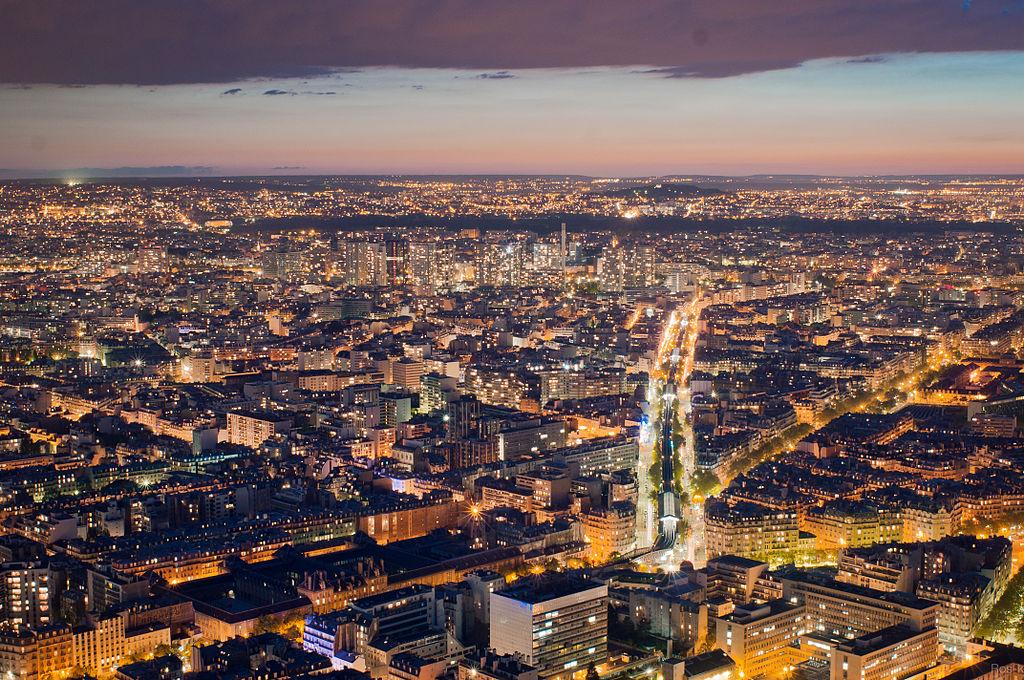 Noční pohled z Tour Montparnasse